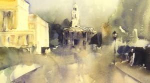 Chester Gate 2 (watercolour 28x38cm sold)