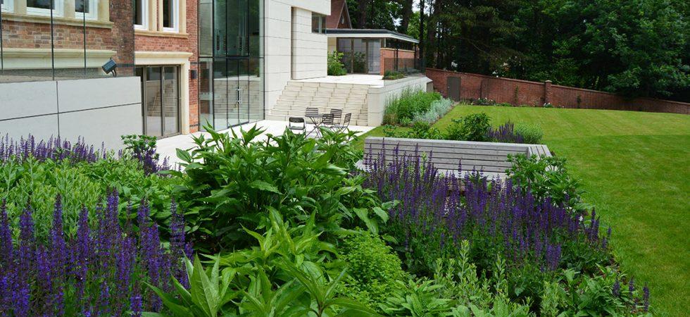Garden in Malvern, Worcestershire
