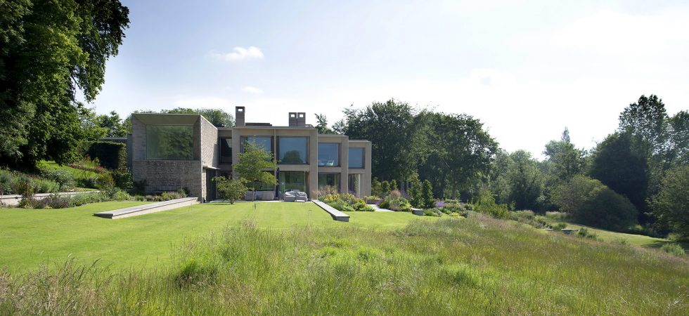 Garden for waterside house, Hampshire