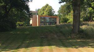 Woodland garden house