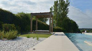 Pool garden complete